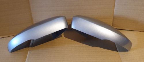 VW POLO 2008 ONWARDS PAIR OF WING MIRROR COVER IN TUNGSTEN SILVER B7W